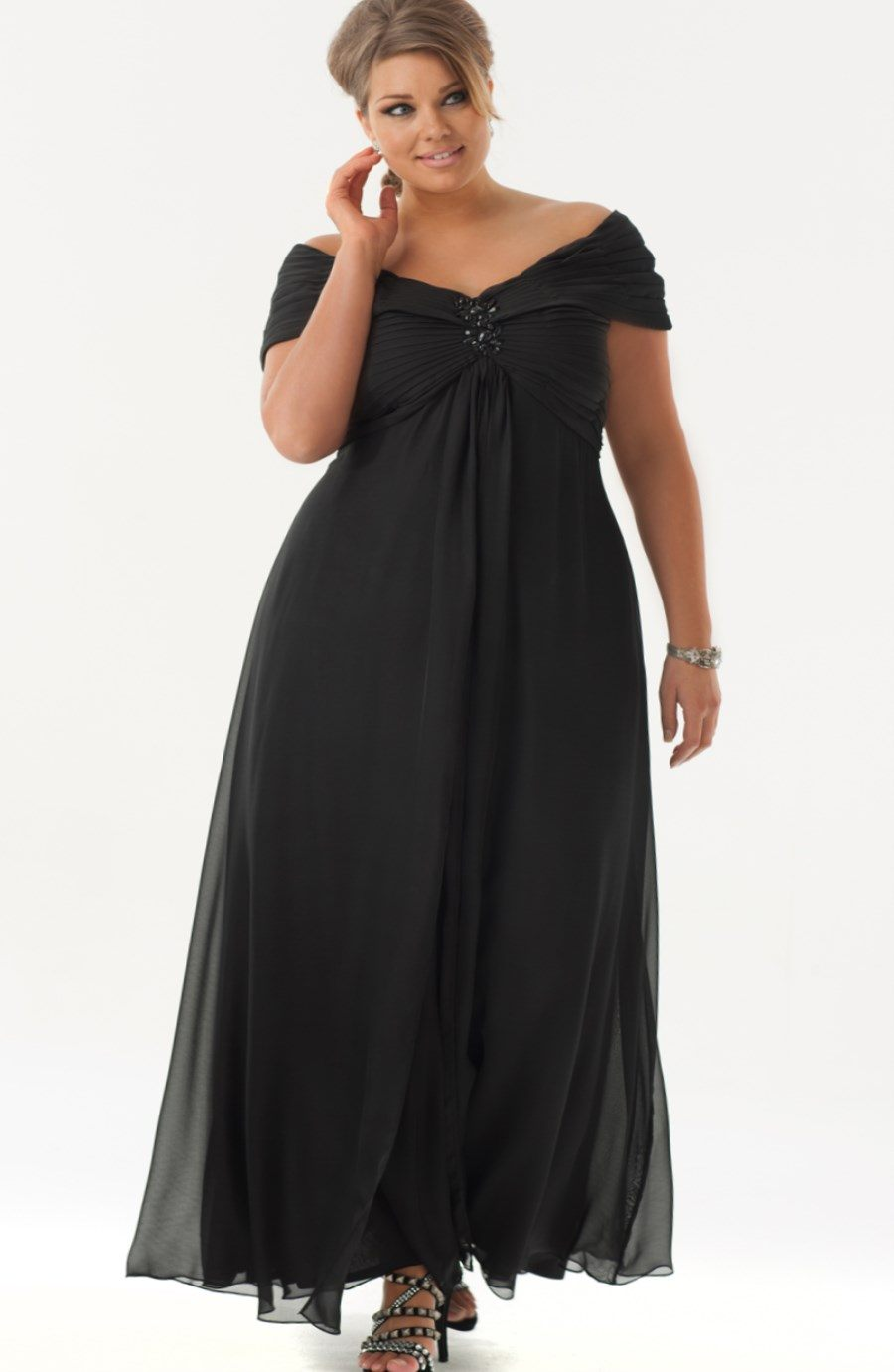 elegant plus size dresses for weddings photo - 1