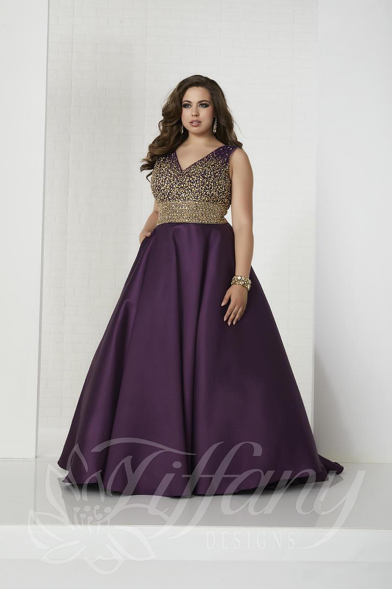 elegant plus size prom dresses photo - 1