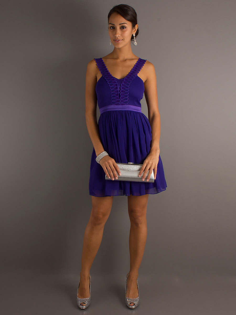 elegant royal blue dresses photo - 1
