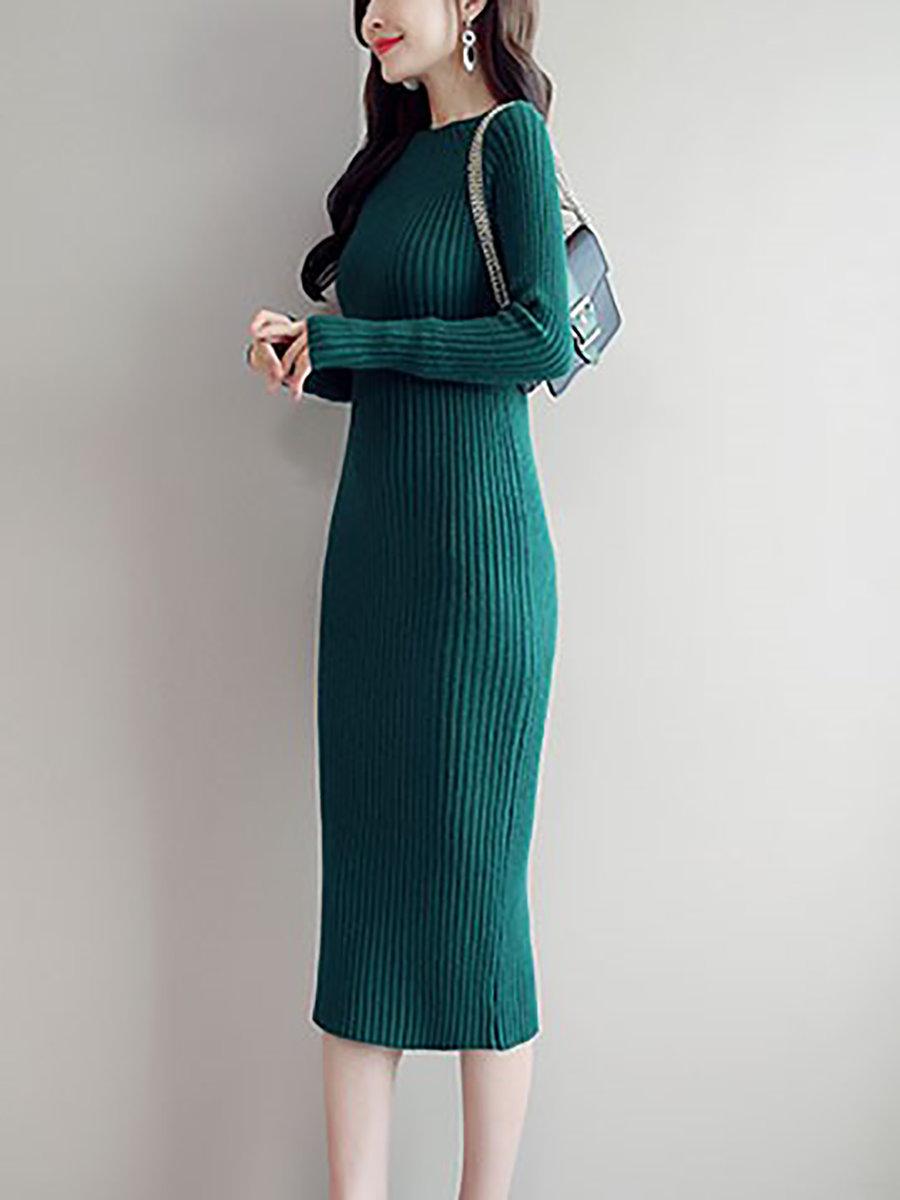elegant sweater dresses photo - 1