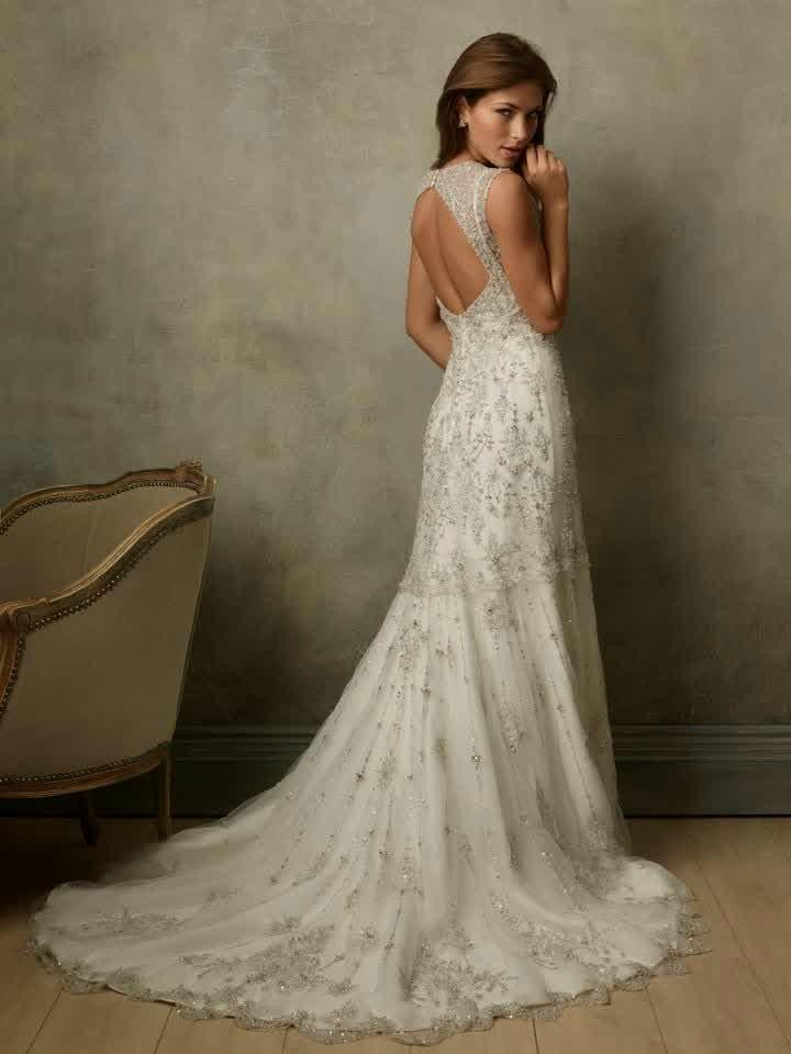 elegant vintage wedding dresses photo - 1