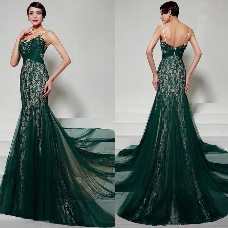 emerald evening dresses photo - 1