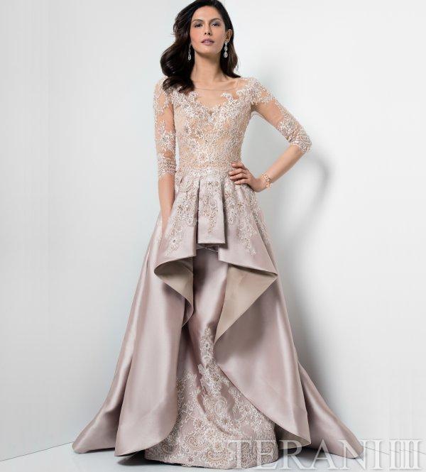 evening dresses champagne color photo - 1