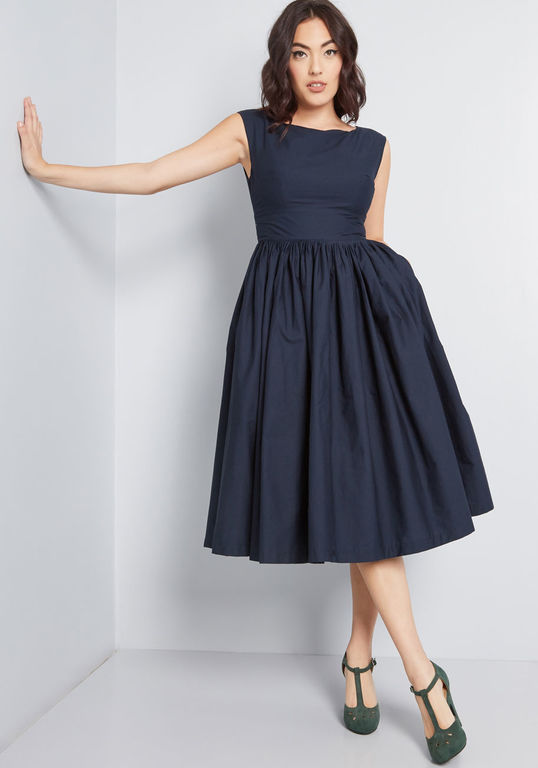 fit and flare evening dress photo - 1