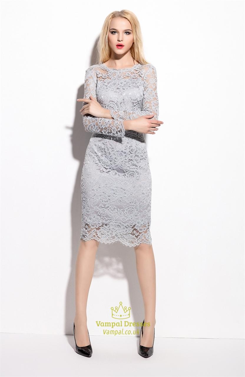 gray evening dress photo - 1
