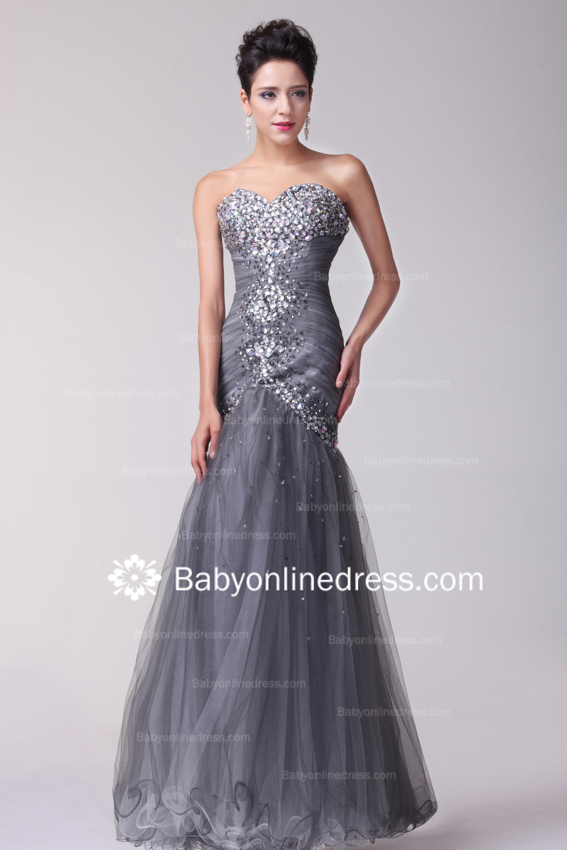 grey evening dresses photo - 1