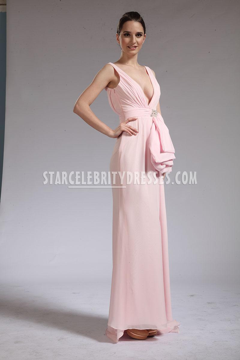 light pink evening dress photo - 1