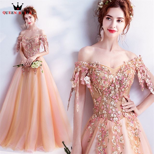 long floral dresses for evening photo - 1