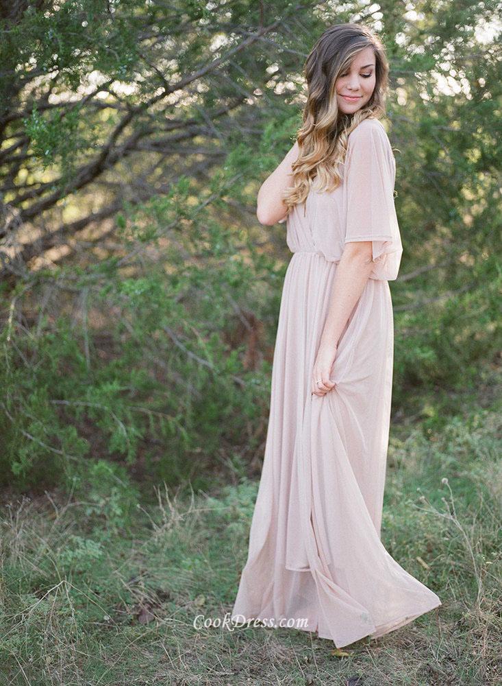 maternity evening dresses long sleeves photo - 1