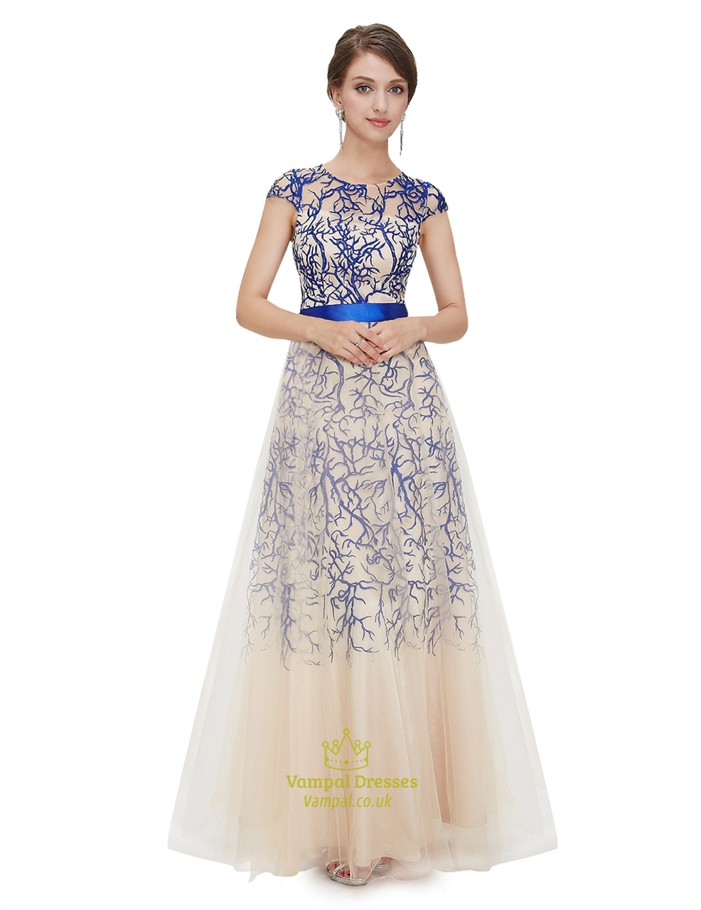 maxi evening dress with sleeves photo - 1