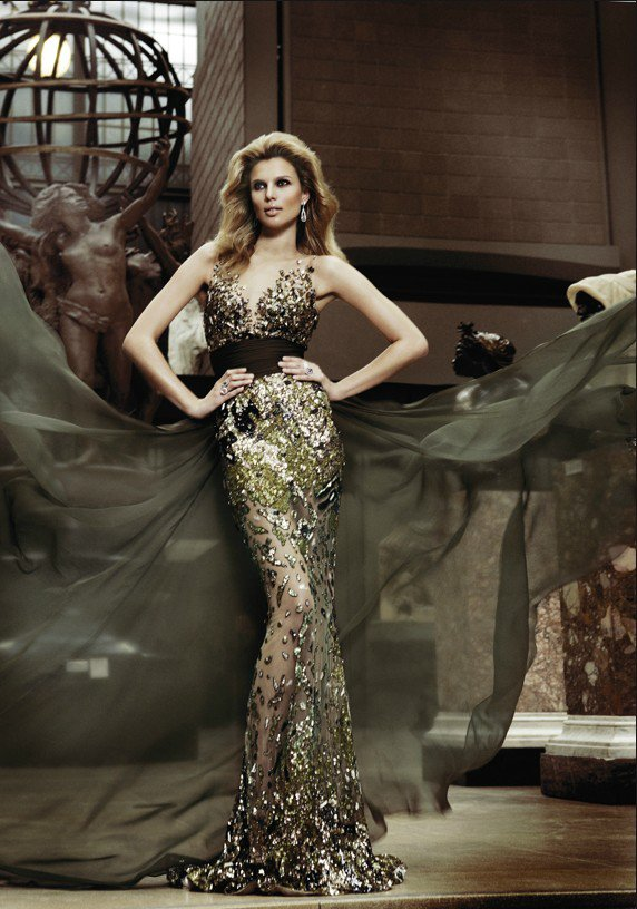 metallic evening dress photo - 1