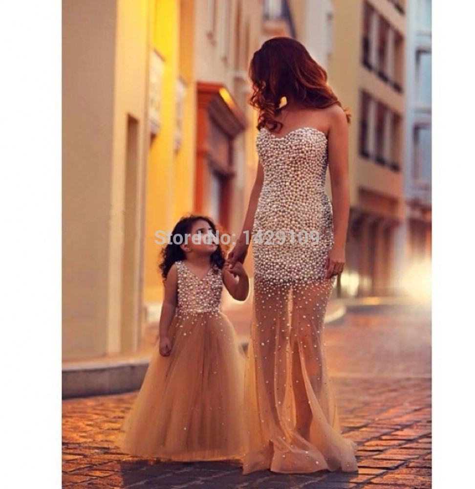 mommy and me evening dresses photo - 1