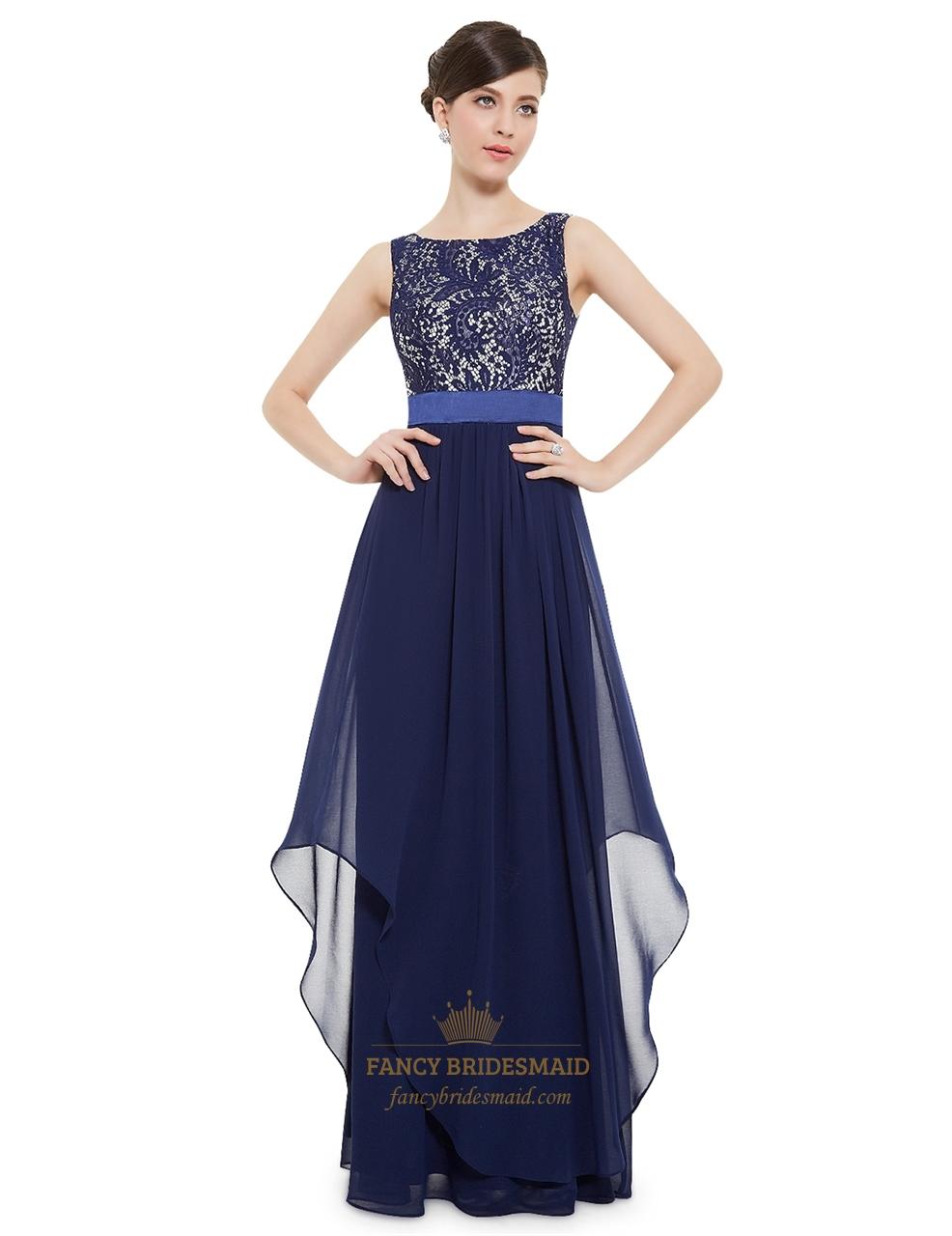 navy blue elegant dresses photo - 1