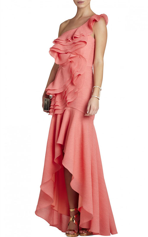 one shoulder evening dress photo - 1