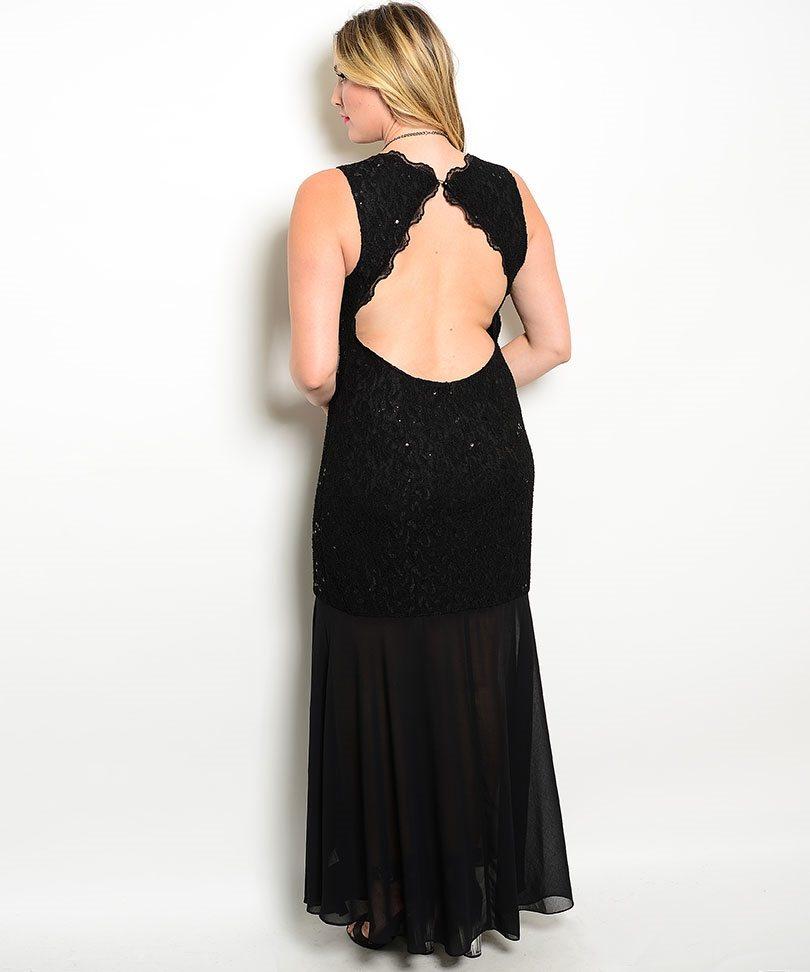 plus size lace evening dresses photo - 1
