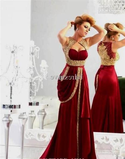 plus size red evening dresses photo - 1