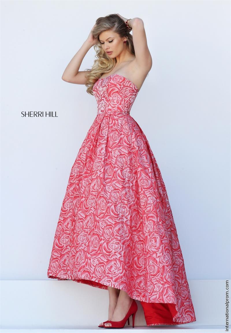 printed evening dress photo - 1