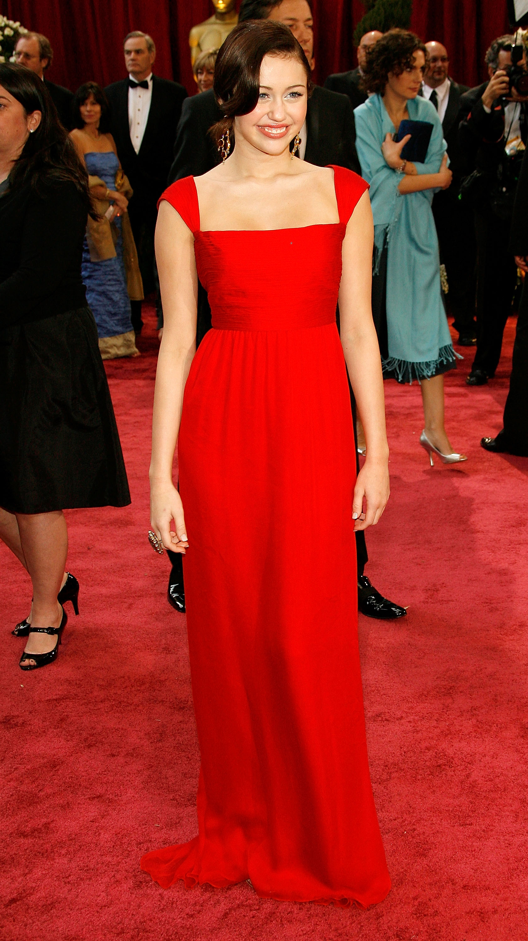 red dress on red carpet photo - 1
