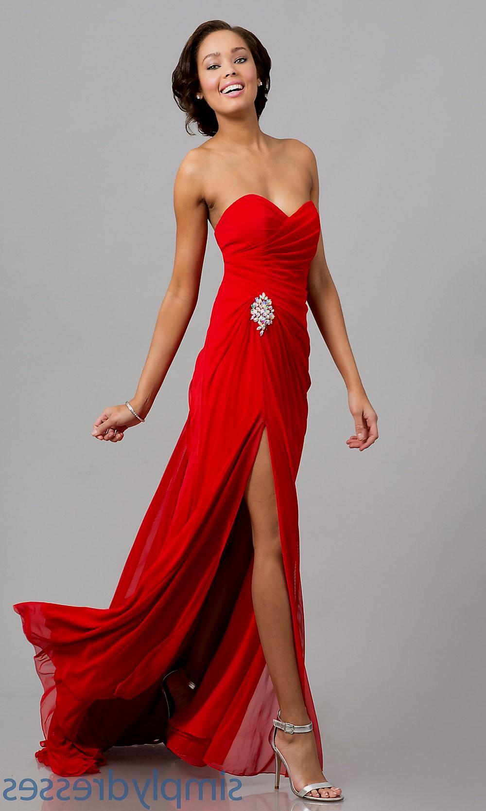 red dresses elegant photo - 1