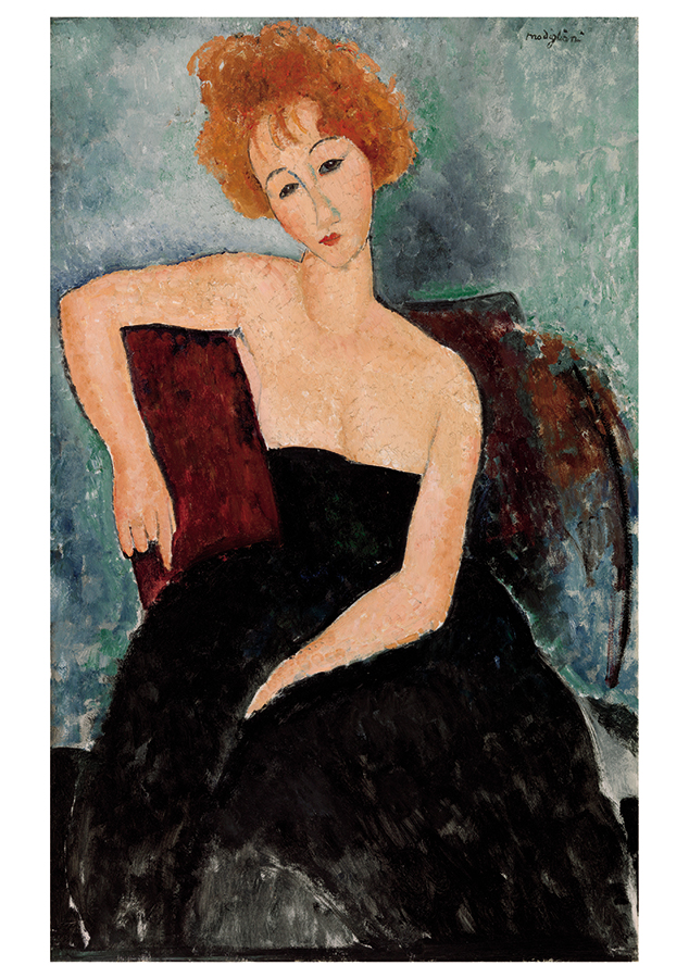 redheaded girl in evening dress photo - 1