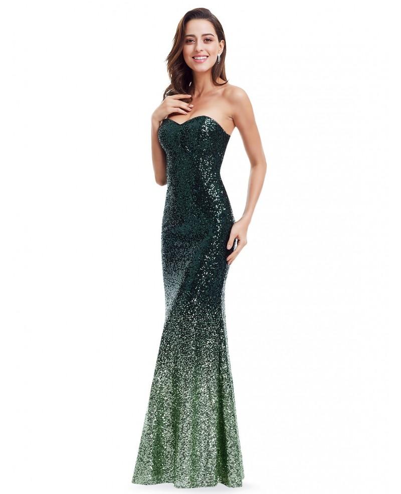 sequin evening dresses photo - 1
