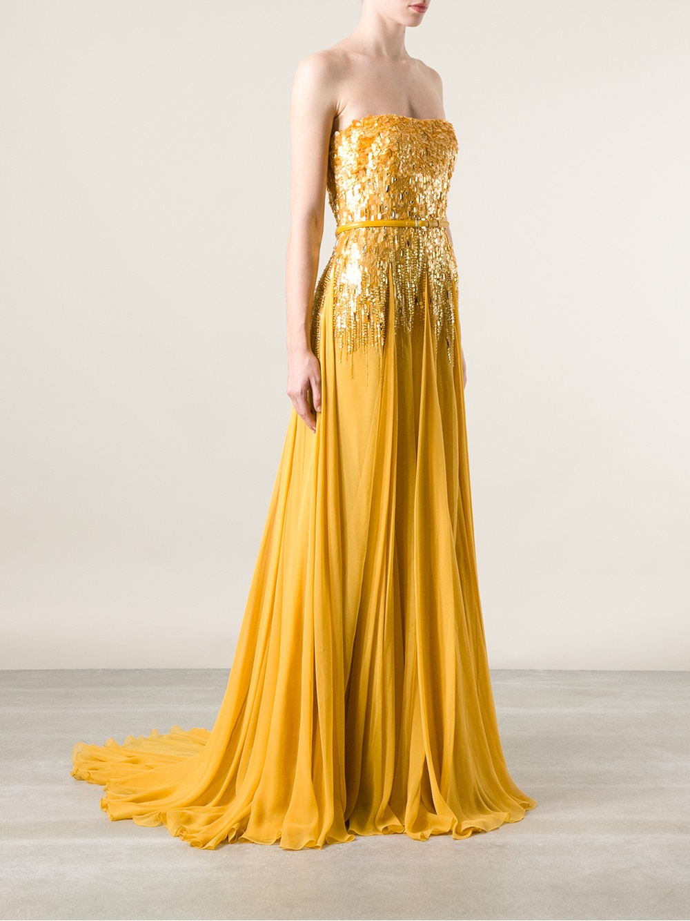 sequined evening dress photo - 1