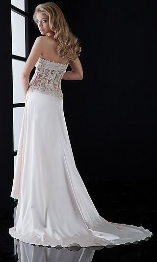sexy white evening dress photo - 1