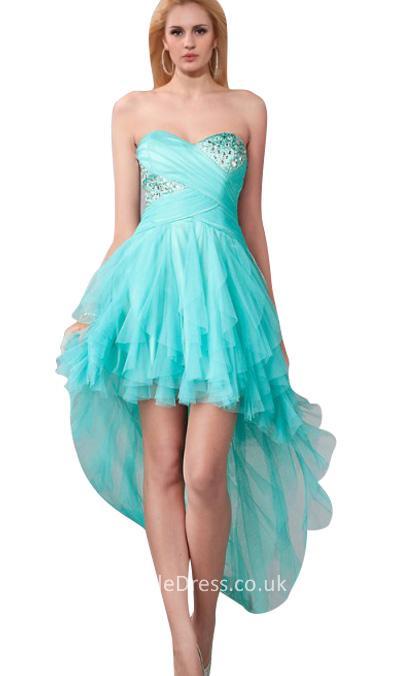 short blue evening dresses photo - 1
