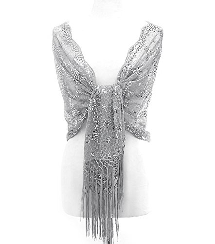 silver shawl for evening dress photo - 1