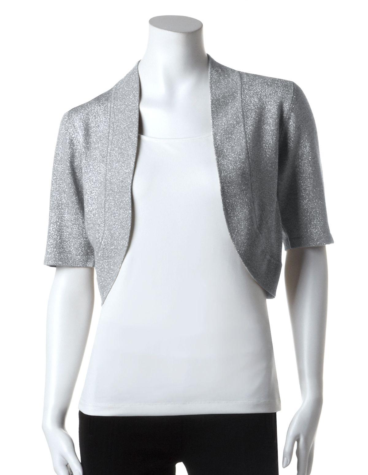 silver shrug for evening dress photo - 1