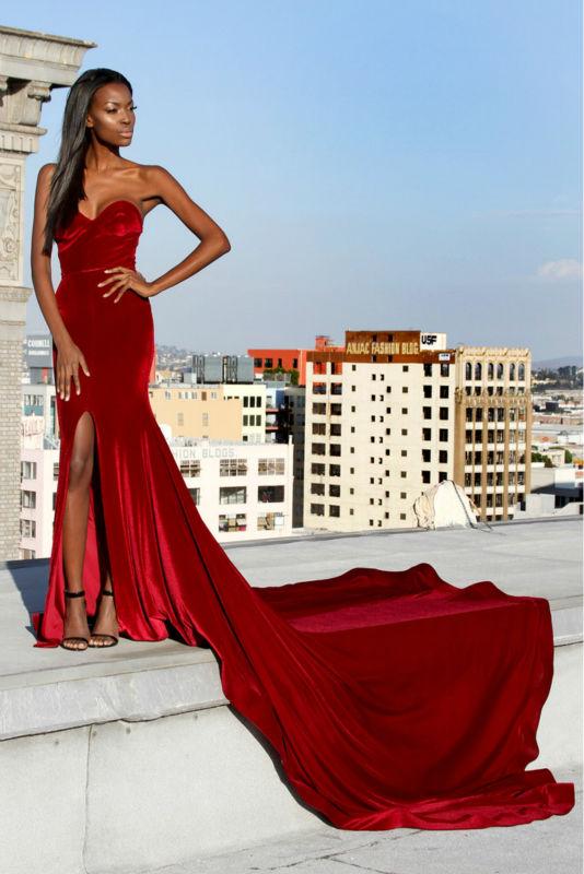 simple elegant evening dress photo - 1