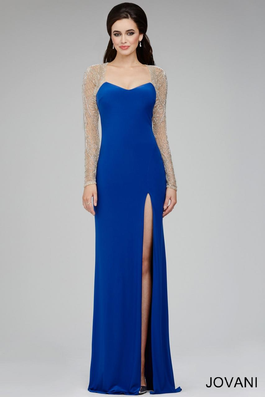 sleeve evening dresses photo - 1