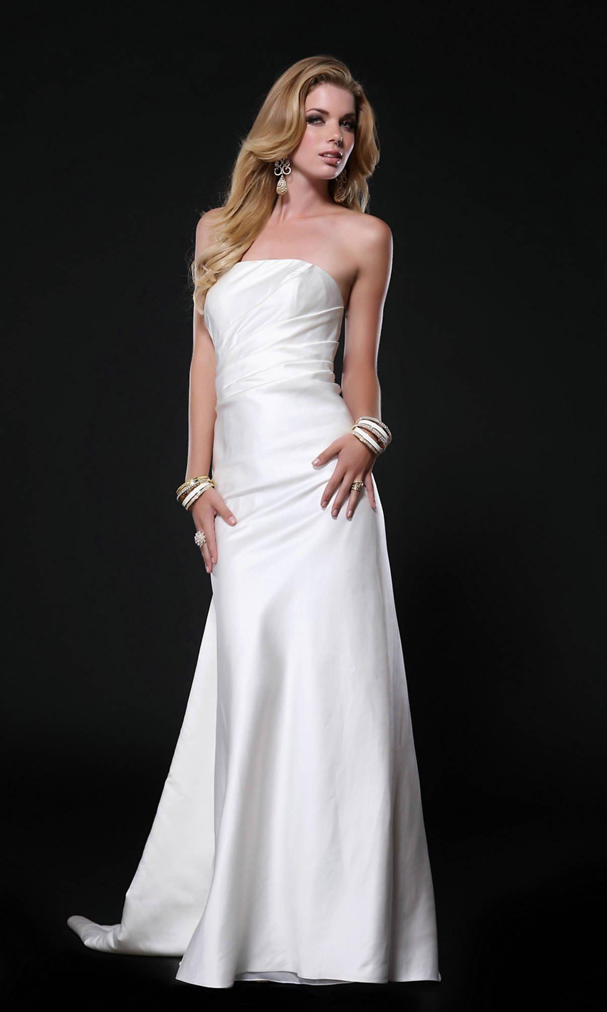 white elegant dresses photo - 1