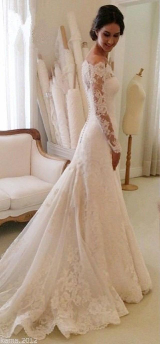 white elegant wedding dresses photo - 1