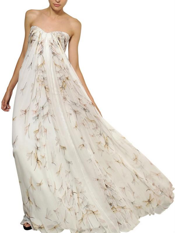 white evening dress long photo - 1