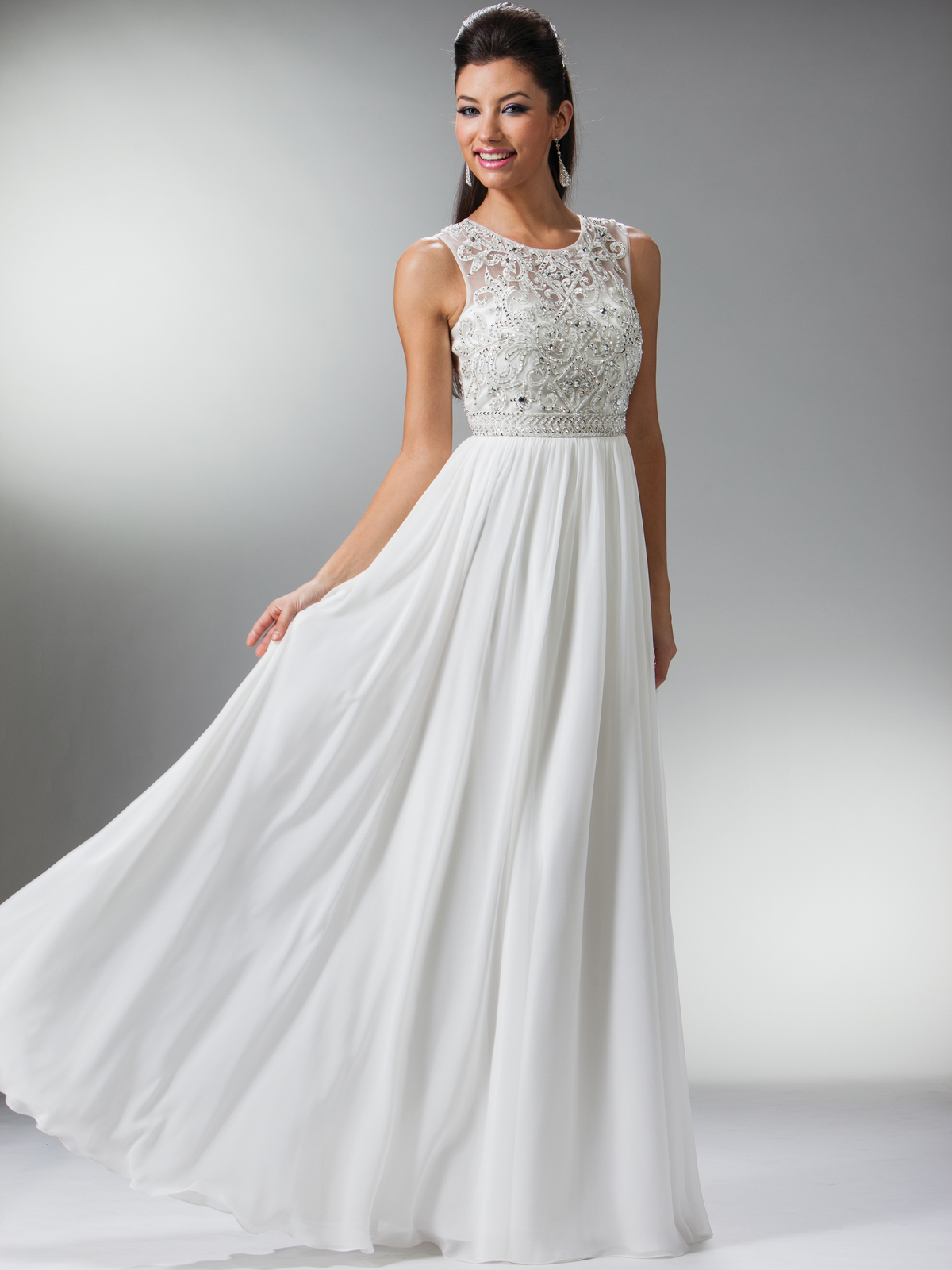 white evening dresses long photo - 1