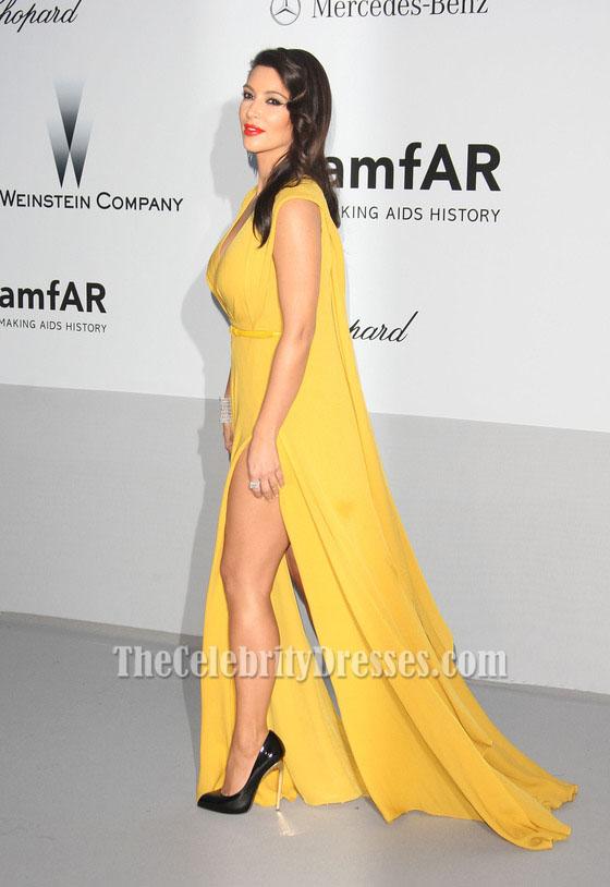 yellow evening dress photo - 1