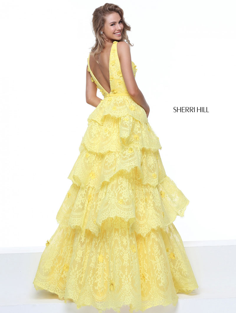 yellow evening gown dress photo - 1